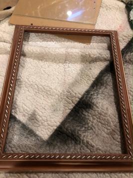 I lightly sanded the edges of the frame